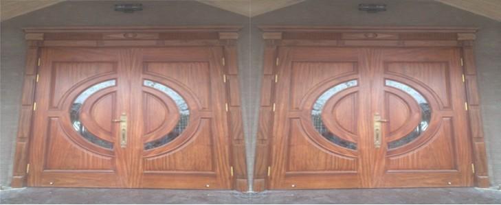 cửa vòm kép