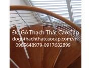 Cầu thang inox tay  vịn gỗ lim đẹp M1