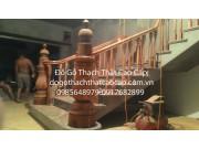 cầu thang gỗ lim ô can giá rẻ nhất Hà Nội M5