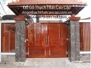 cổng gỗ biệt thự đẹp M1