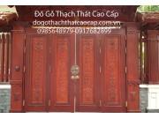 Cổng gỗ biệt thự gỗ lim đẹp giá rẻ M4