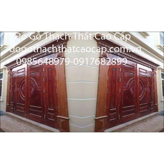 cửa gỗ biệt thự hiện đại M5