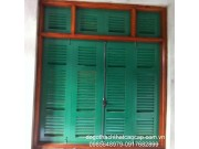 cửa sổ 4 cánh chớp sơn dầu xanh M8
