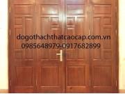 cửa đi đại sảnh 4 cánh gỗ lim lào M8