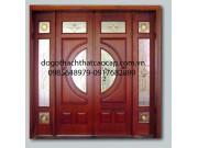 cửa đi 4 cánh gỗ lim pano-kính đẹp M9