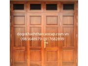 cửa mặt tiền gỗ lim nam phi đẹp M13