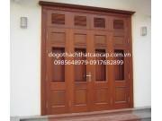 cửa gỗ lim ô can 4 cánh đẹp M16