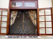 Khuôn bao cửa gỗ lim KC12