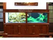 bể cá gỗ gụ khảm BC17