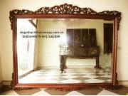 khung gương gỗ gụ KG02