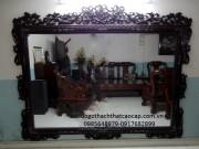 khung gương gỗ gụ KG06