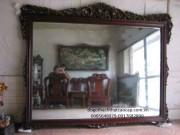 khung gương gỗ gụ KG04