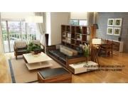 Bàn ghế salon phòng khách gỗ dổi SL02