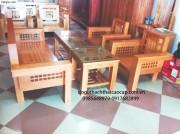 Bàn ghế salon gỗ sồi nga kiểu hiện đại SL09