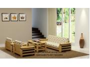 Bàn ghế salon gỗ sồi Mỹ SL10