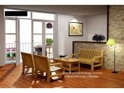 Bàn ghế salon gỗ sồi nga SL20