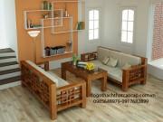 Bàn ghế salon gỗ keo giá rẻ SL31