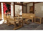 Bàn ghế salon gỗ sồi nga phòng khách SL39