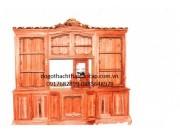 Tủ phòng khách gỗ gụ TPK-09