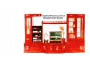 Tủ phòng khách gỗ gụ TPK-13