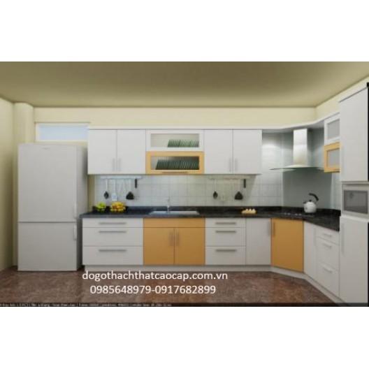 Tủ bếp gỗ dổi TB02