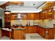 Tủ bếp gỗ dổi TB34