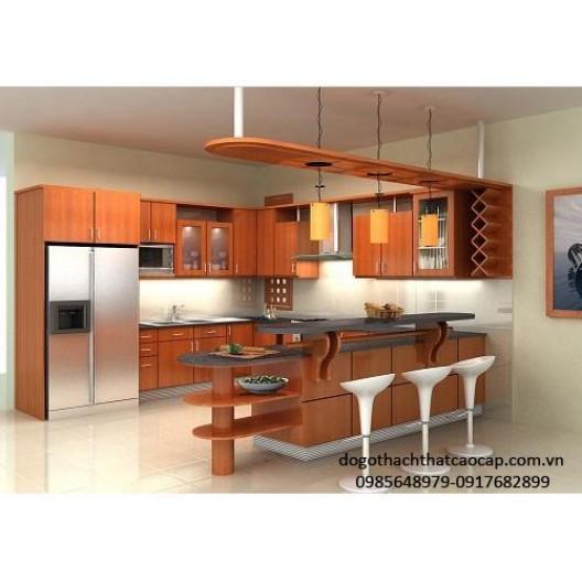 Tủ bếp gỗ dổi TB42