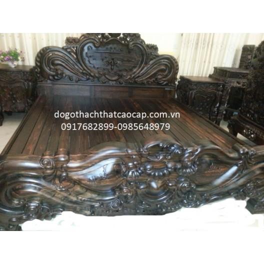 Giường gỗ Mun GN-03