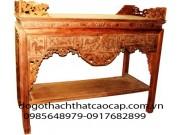 Bàn thờ án gian gỗ gụ AG03