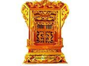 Khảm thờ gỗ mít dát vàng đẹp KT04