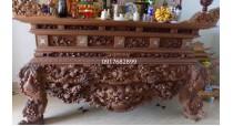 sập thờ gỗ gụ đẹp cho đại gia ST15