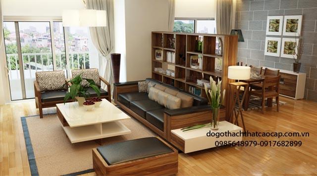 bàn ghế salon gỗ sồi đẹp