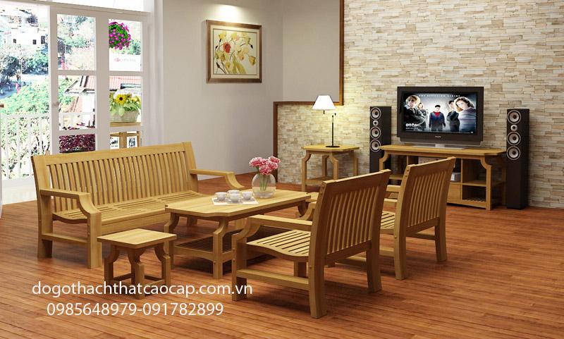bàn ghế salon gỗ sồi nga
