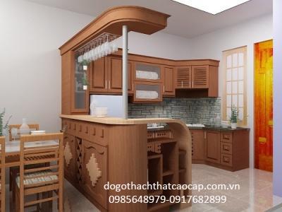 Tủ bếp gỗ dổi TB03