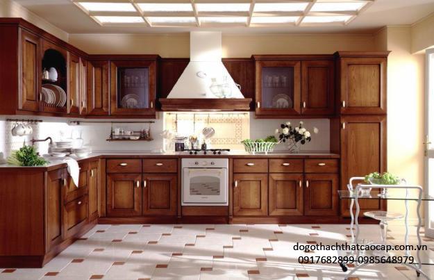 Tủ bếp gỗ xoan đào TB17