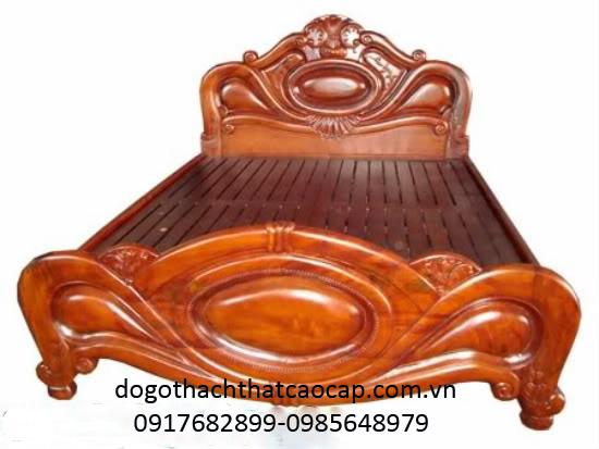 giường ngủ gỗ gụ.